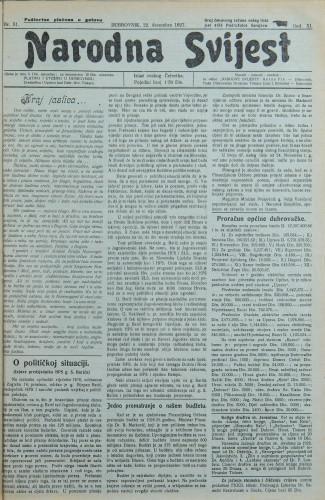 Narodna svijest, 1927/51