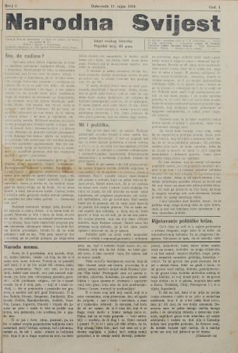 Narodna svijest, 1919/2