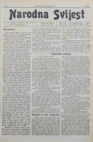 Narodna svijest, 1921/3