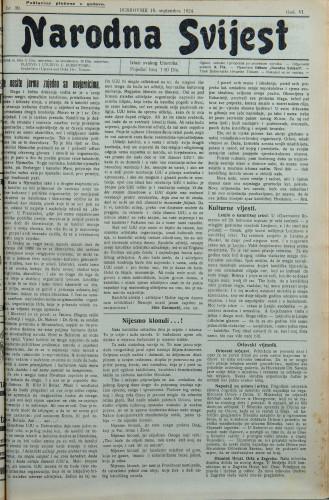 Narodna svijest, 1924/39