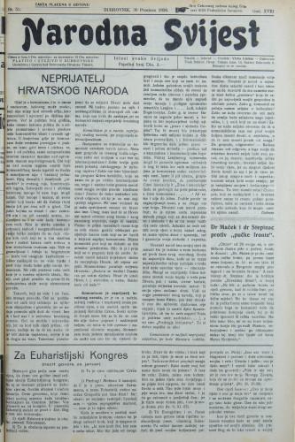 Narodna svijest, 1936/52