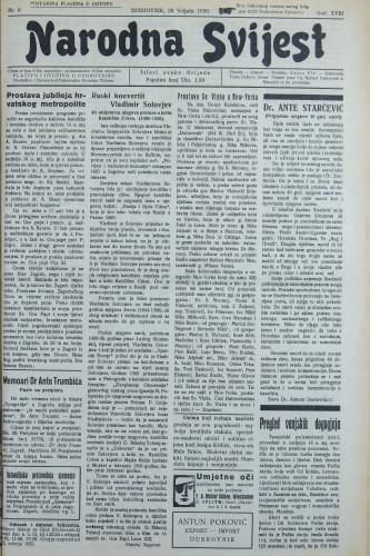 Narodna svijest, 1936/8