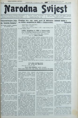 Narodna svijest, 1936/32