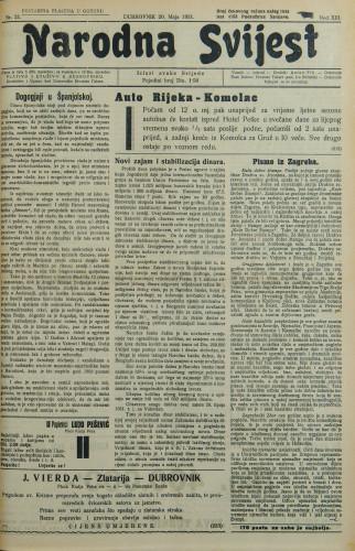 Narodna svijest, 1931/21