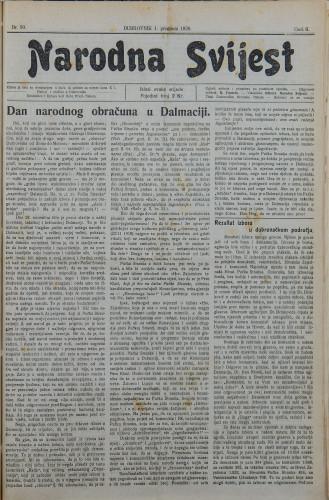 Narodna svijest, 1920/50