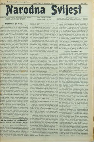 Narodna svijest, 1925/50