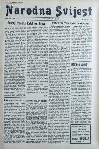 Narodna svijest, 1937/18