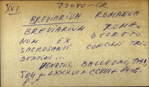 Brevarium Romanum ex decreto sacrosanti concilii tridentini