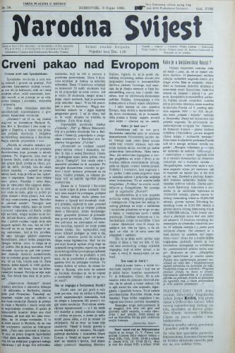 Narodna svijest, 1936/36