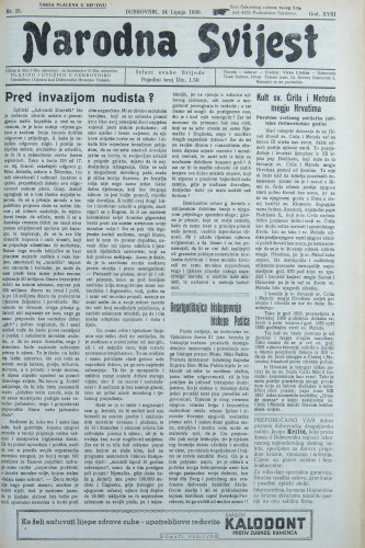 Narodna svijest, 1936/25