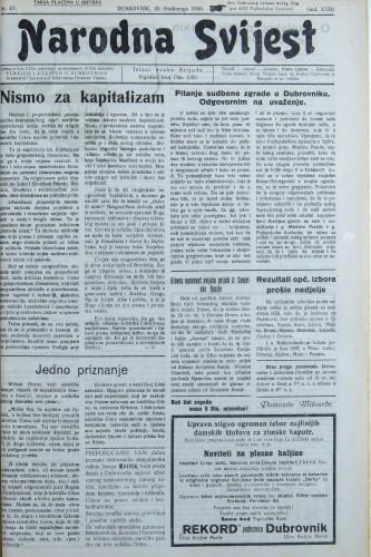 Narodna svijest, 1936/47