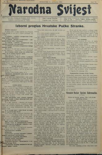 Narodna svijest, 1924/54