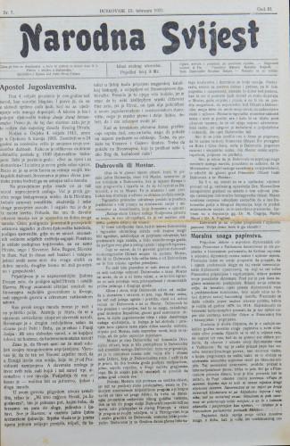 Narodna svijest, 1921/7