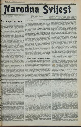 Narodna svijest, 1924/34