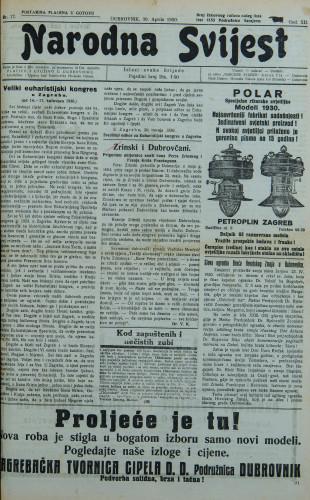 Narodna svijest, 1930/17