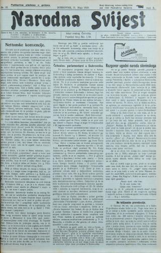 Narodna svijest, 1928/22