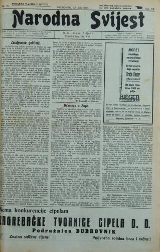 Narodna svijest, 1930/29
