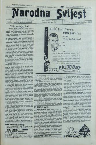 Narodna svijest, 1932/42