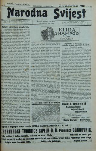 Narodna svijest, 1930/40