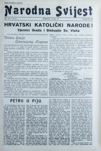 Narodna svijest, 1937/22