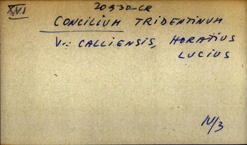 Concilium tridentinum - uputnica