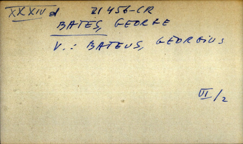 Bates, George - uputnica