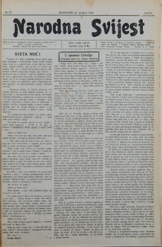 Narodna svijest, 1920/53