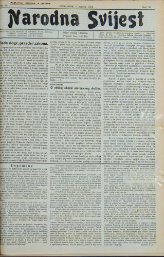 Narodna svijest, 1924/33