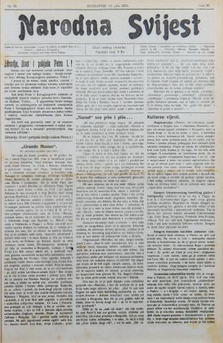 Narodna svijest, 1921/28