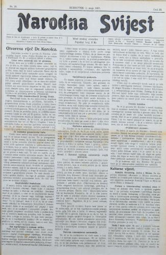 Narodna svijest, 1921/18