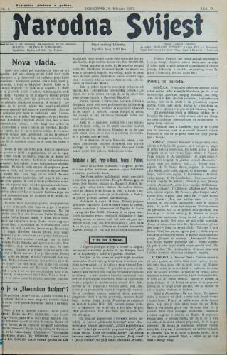 Narodna svijest, 1927/6