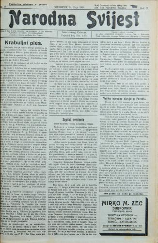 Narodna svijest, 1928/21