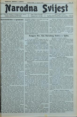 Narodna svijest, 1927/31