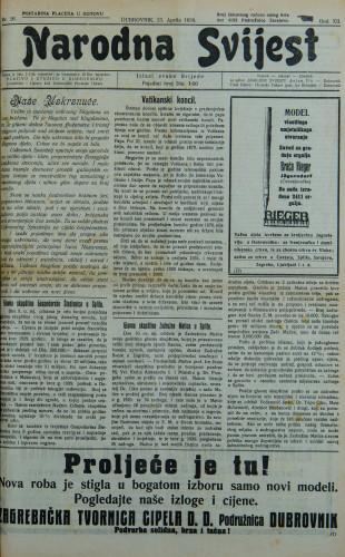 Narodna svijest, 1930/16