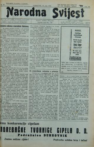 Narodna svijest, 1930/28