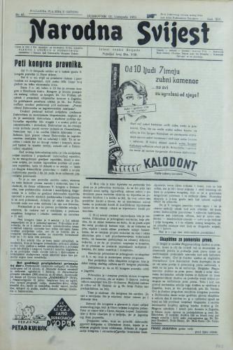 Narodna svijest, 1932/41