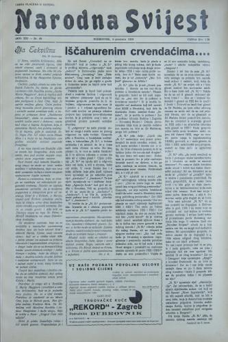 Narodna svijest, 1939/49