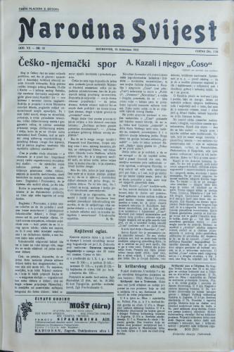 Narodna svijest, 1938/32
