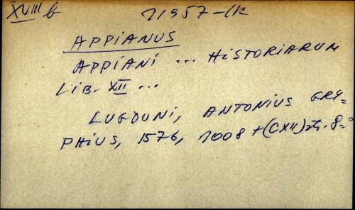 Appiani ... historiarum libri XII ...