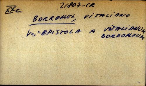 Borromei, Vitaliano - uputnica