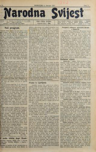 Narodna svijest, 1923/6