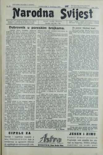 Narodna svijest, 1932/45