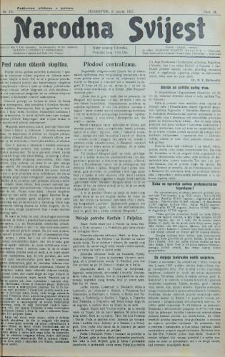 Narodna svijest, 1927/10