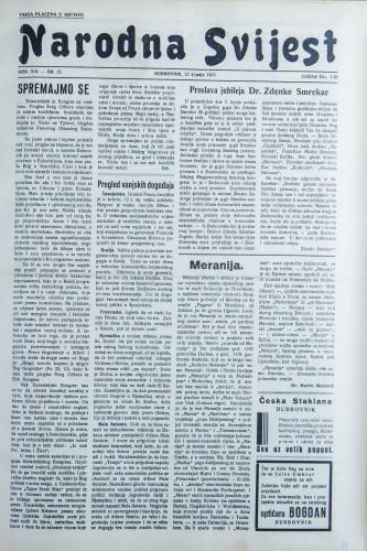 Narodna svijest, 1937/25