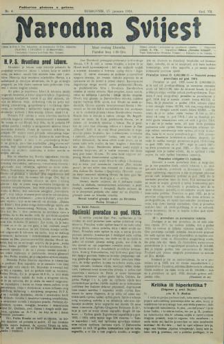 Narodna svijest, 1925/4
