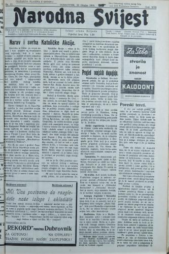 Narodna svijest, 1935/11