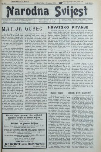 Narodna svijest, 1936/48