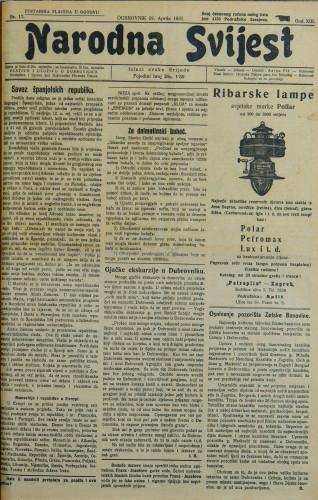 Narodna svijest, 1931/17