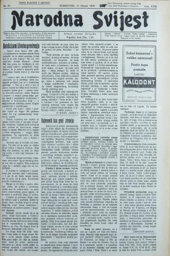Narodna svijest, 1936/28