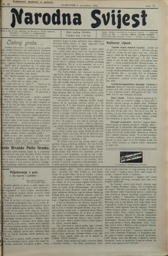 Narodna svijest, 1924/46